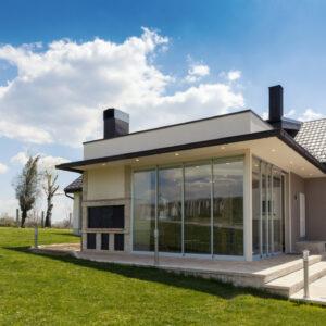 Skjutdörrar aluminium förlängd sommar enkel glas perfekt till uterummet